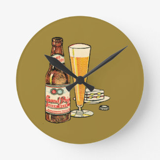 Grand Prize Beer Round Clock