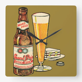 Grand Prize Beer Square Wall Clock