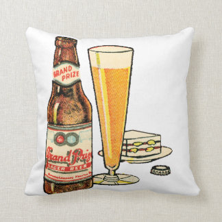 Grand Prize Beer Throw Pillow