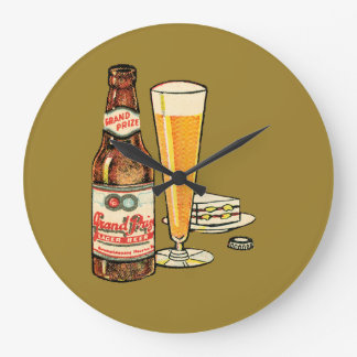 Grand Prize Lager Beer Large Clock