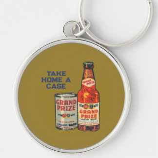 Grand Prize Lager Beer Take Home A Case Keychain