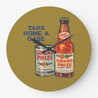 Grand Prize Lager Beer Take Home A Case Large Clock