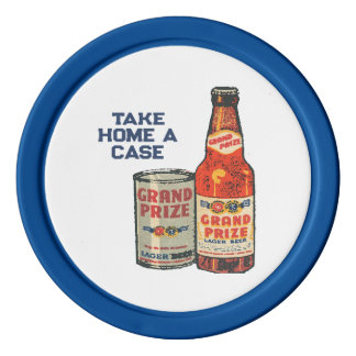Grand Prize Lager Beer Take Home A Case Poker Chips