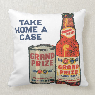 Grand Prize Lager Beer Take Home A Case Throw Pillow