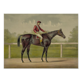 Grand Racer Kingston - Vintage Horse Racing Poster