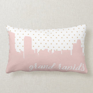 Grand Rapids, Michigan city skyline Lumbar Pillow