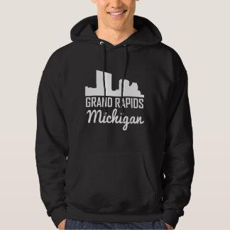 Grand Rapids Michigan Skyline Hoodie