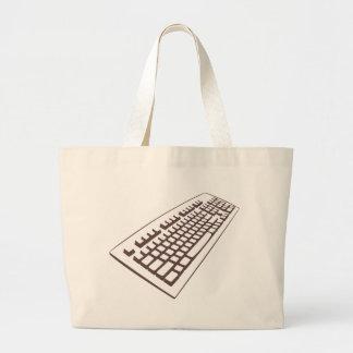 Grand sac fourre-tout à geek de clavier d'ordinate