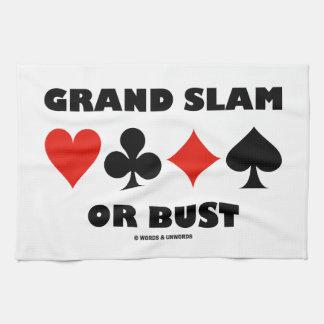Grand Slam Or Bust (Bridge Card Suits) Kitchen Towel
