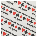 Grand Slam Or Bust Bridge Four Card Suits Fabric