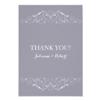 Grand Soiree   Lilac Gray Wedding Thank You Card