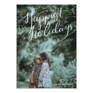 Grand Statement Calligraphy Holiday Photo Card