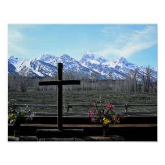 Grand Teton Church Poster