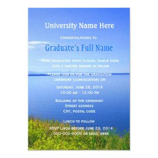 "Grand Teton graduation ceremony (convocation) 5"" X 7"" Invitation Card"