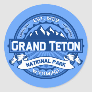 Grand Teton Logo Cobalt Round Sticker
