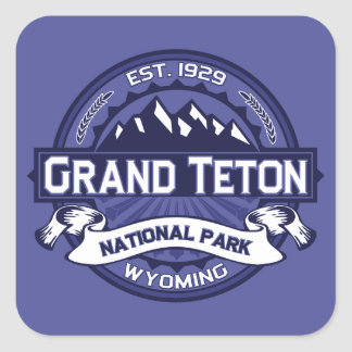 Grand Teton Logo Midnight Square Sticker
