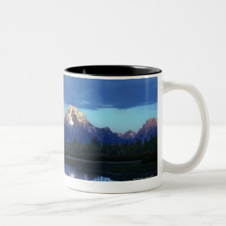Grand Teton mountain range 2 Two-Tone Coffee Mug