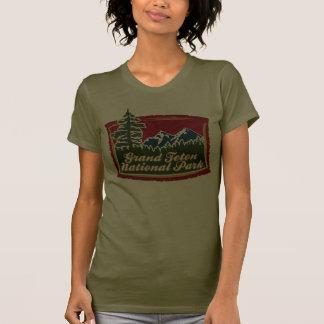 Grand Teton Mountain Tree Logo Tshirt