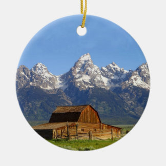 Grand Teton mountains Ceramic Ornament