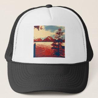 Grand Teton National Park Art Trucker Hat