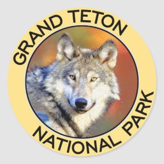 Grand Teton National Park Classic Round Sticker