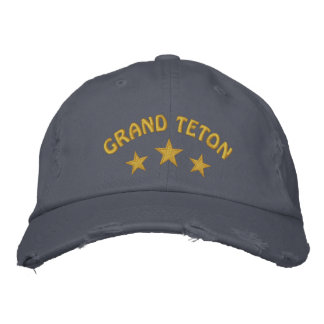 Grand Teton National Park Embroidered Hat