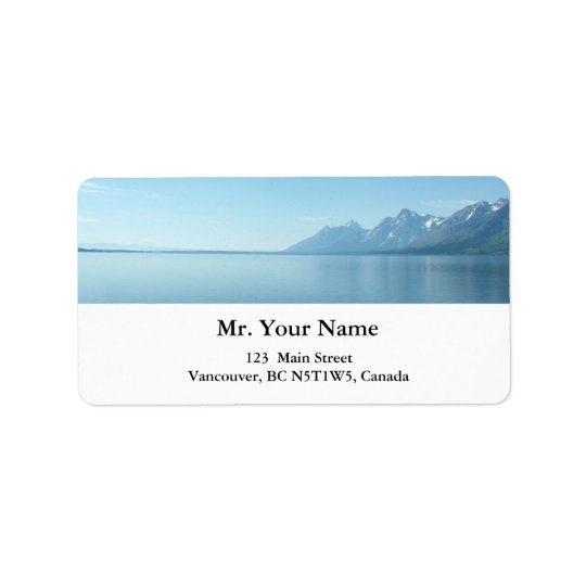 Grand Teton National Park. Label