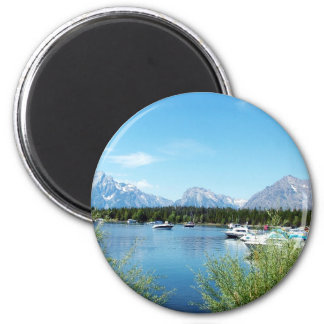 Grand Teton National Park landscape photography. 2 Inch Round Magnet