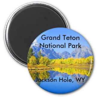 Grand Teton National Park Series 1 2 Inch Round Magnet