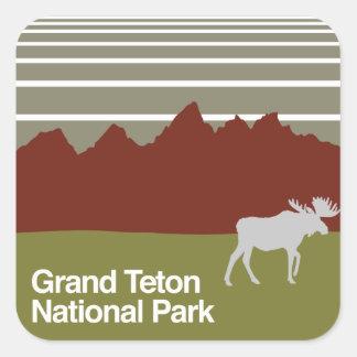 Grand Teton National Park Square Sticker