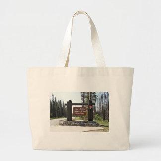 Grand Teton National Park, US National Park, Sign Large Tote Bag