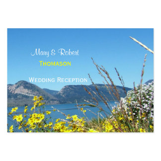 Grand teton National Park  wedding reception Large Business Cards (Pack Of 100)