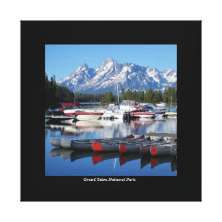 Grand Teton National Park Wrapped Canvas