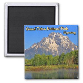 Grand Teton National Park Wyoming Square Magnet