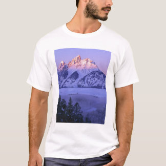 GRAND TETON NATIONAL PARK, WYOMING. USA. Fog & T-Shirt