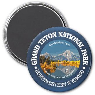 Grand Teton NP 3 Inch Round Magnet