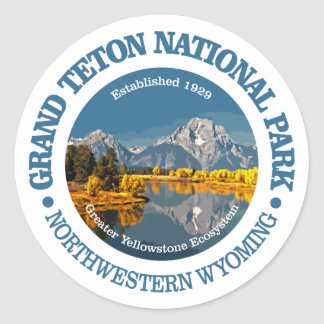 Grand Teton NP Classic Round Sticker