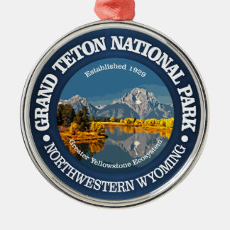 Grand Teton NP Metal Ornament
