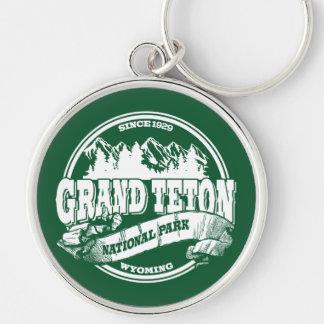 Grand Teton Old Circle Green Keychain