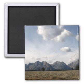 Grand Teton Range Square Magnet