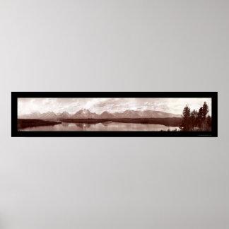 Grand Teton Range WY Photo 1902 Poster