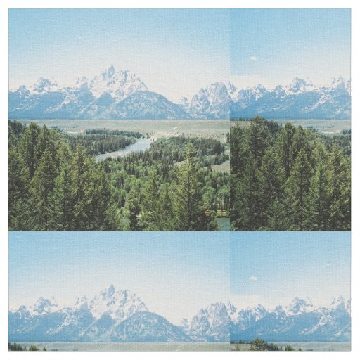 Grand Teton Snake River Overlook Fabric