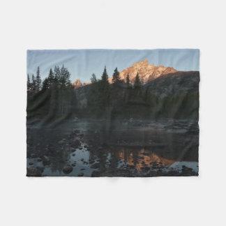 Grand Teton Sunrise at Cottonwood Creek Fleece Blanket