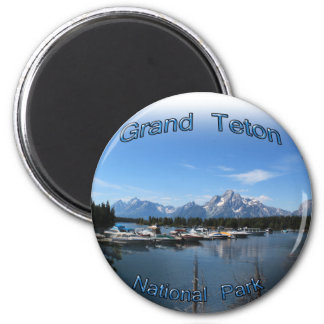 Grand Teton, US, Montana national park 2 Inch Round Magnet