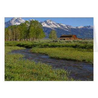 Grand  Tetons Barn Card