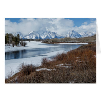 Grand Tetons from Oxbow Bend Card