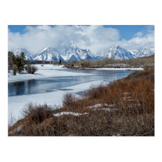 Grand Tetons from Oxbow Bend Postcard