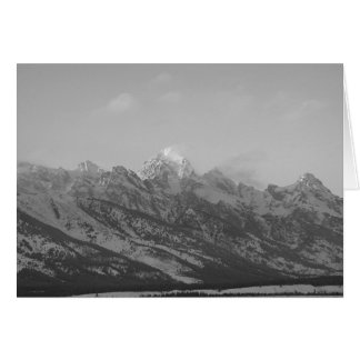 Grand Tetons in Winter, Jackson Hole, Wyoming Card