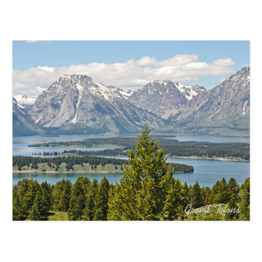 Grand Tetons National Park 2017 Calendar Postcard