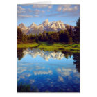 Grand Tetons reflecting in the Snake River Card